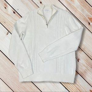 Men's Calvin Klein Sweater 100% Cotton Cable Knit